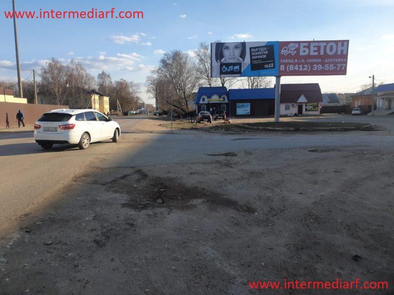 Стартовало размещение рекламы нашего клиентабетонного завода ООО Ребус-М на щитах 3×6 в Нижнем Ломове Пензенской области (3)